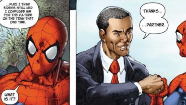 Спайдърмен спаси Обама!