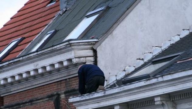 Крадец върху горещ ламаринен покрив