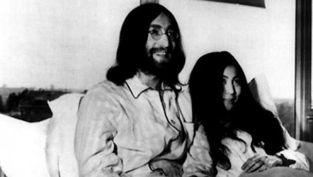 В апартамента на Джон Ленън и Йоко Оно