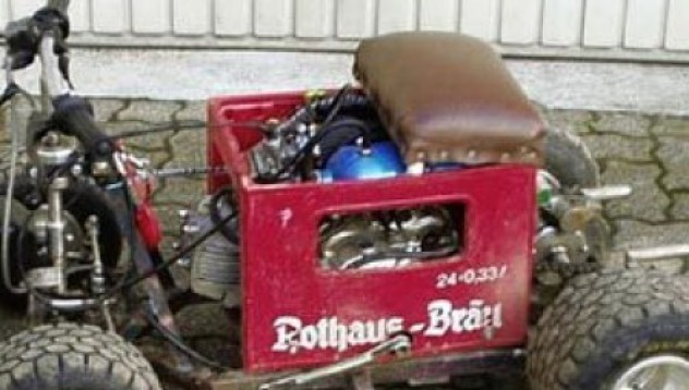 Кола от каса бира