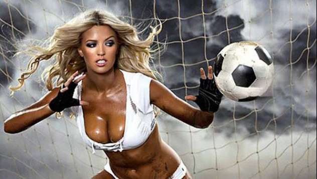 Футбол и секси мацки