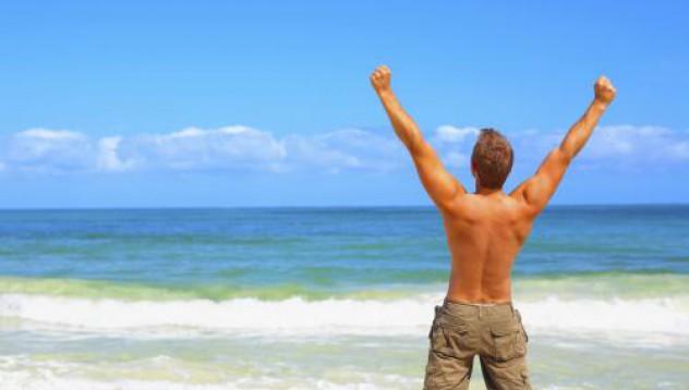 Мъжка кърпа за плажа