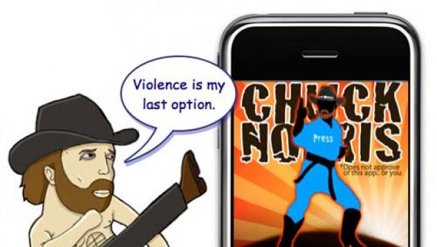 IPhone 5 на Чък Норис