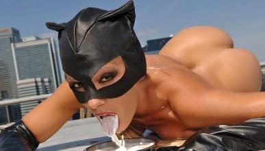 Жената котка и млякото