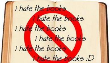 Той е срещу книгите!