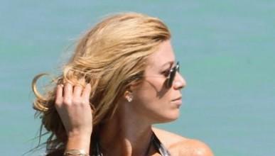 Джил Мартин на плаж!
