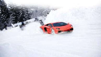 Aventador не обича сняг