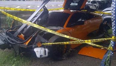 Още едно разбито Lamborghini