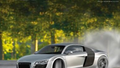 Audi R8 обръща Лада