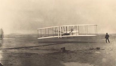 Първата снимка в историята на авиацията