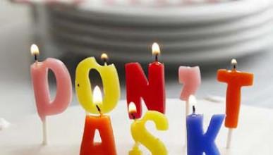 Тайни свещи за рожден ден