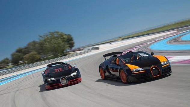 Bugatti на пистата