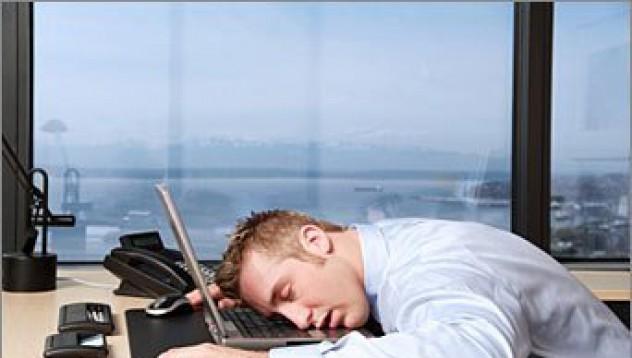 Японците спят на работното място