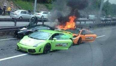 Три Lamborghini-та с тотална щета