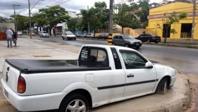 Циментираха автомобил в Бразилия