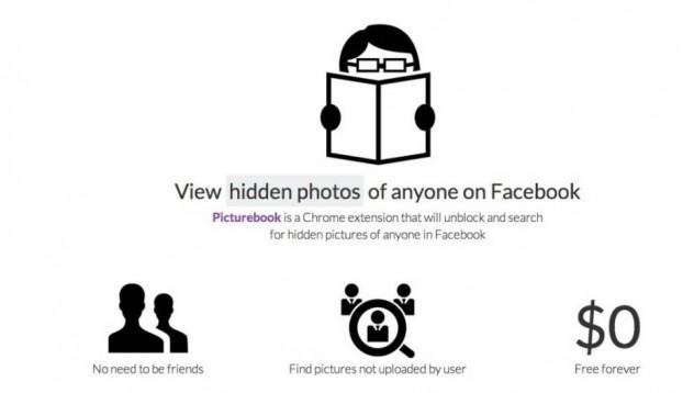 Picturebook показва скритите снимки на хора във Facebook