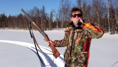 Как се отваря бира с ловна пушка