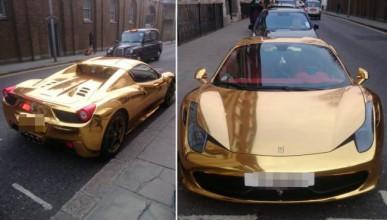 Златно Ferrari в Лондон