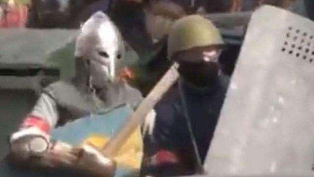 Украински рицари протестират