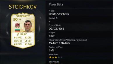 Стоичков е разпознат и в новата Fifa 15