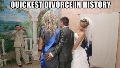 Мъж изневерил на сватбата си