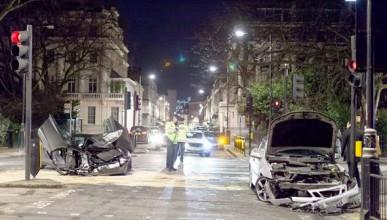 McLaren 650S Spider се разби в Лондон