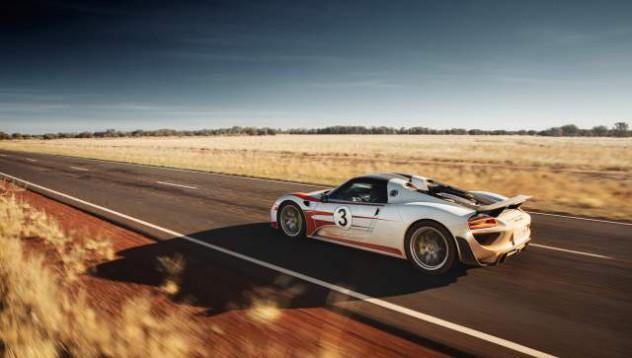Porsche 918 с кратка разходка до Австралия