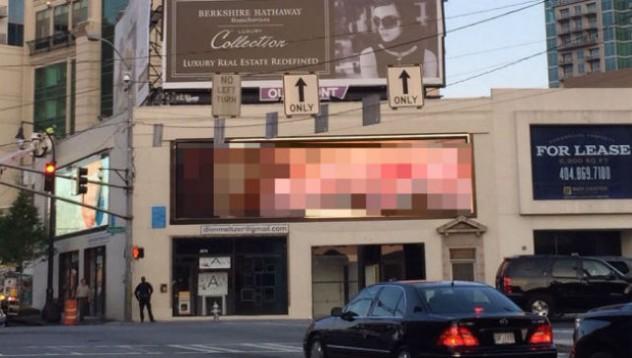 Хакер постави неприлични снимки на билборд (18+)