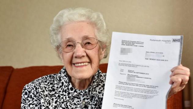 99-годишна англичанка забременяла