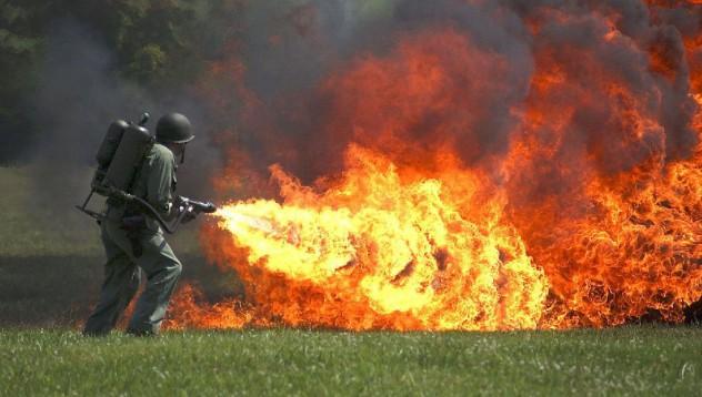 Напалмова огнехвъргачка за 1600 долара