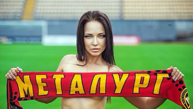 Украински модел ще помага на своя любим футболен отбор