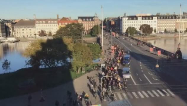 Така изглежда трафикът в Копенхаген