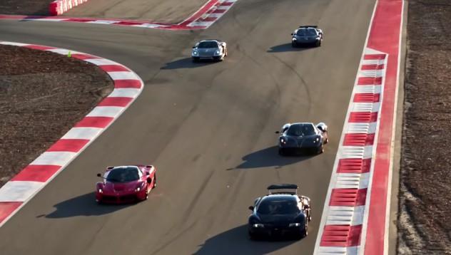 LaFerrari VS McLaren P1 VS Porsche 918 Spyder VS Pagani Huayra VS Bugatti Veyron