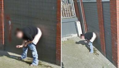 Google засне холандка да се облекчава на публично място
