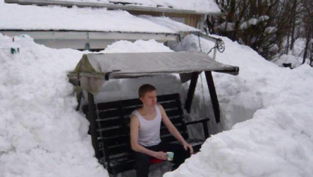 Снежен сибирски петъчен туитър