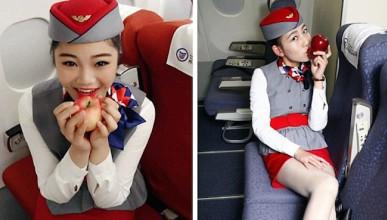 Китайка целува ябълки и ги продава в интернет