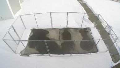 Бетонни пътища, които сами разтопяват снега