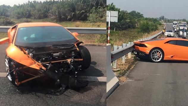 Lamborghini Huracan стана жертва във Виетнам
