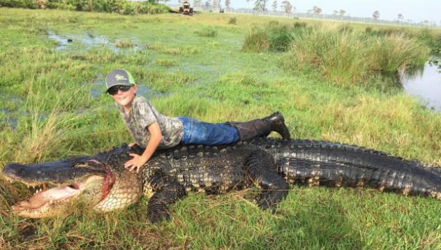 Фермер застреля 100-годишен алигатор