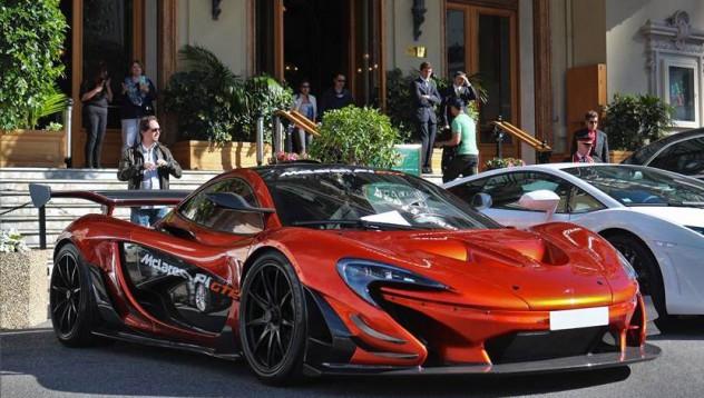 McLaren P1 GTR за първи път в Монако