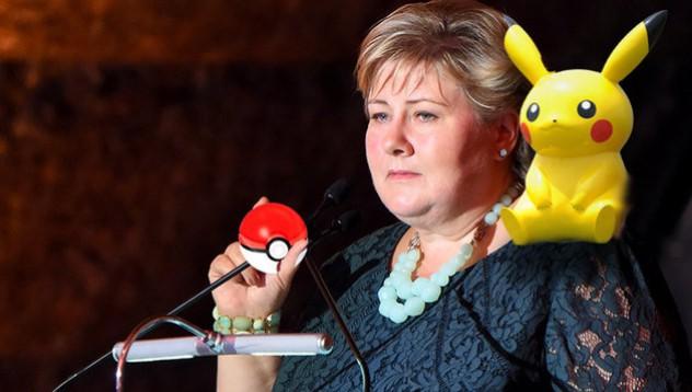 Норвежкият министър председател играе Pokemon Go