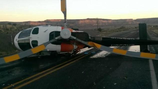 Шофьор успя да блъсне хеликоптер