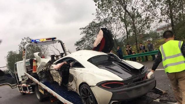 Първият McLaren 570S стана жертва в Китай