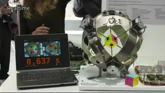 Робот нареди кубчето на Рубик за по-малко от секунда