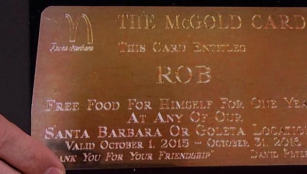 McDonalds предлагат златна карта