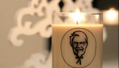 Коледна свещ от KFC