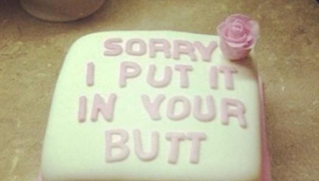 Торта за сексуална издънка
