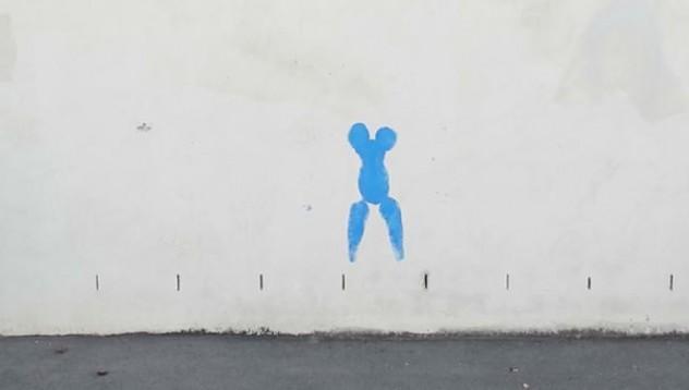 Изкуството на женско тяло върху стена