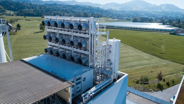 Сграда за пречистване на въглероден диоксид