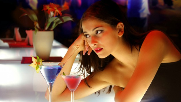 За онази самотна жена на бара